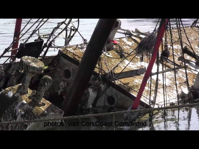 Sinking Raising Tall Ship Astrid on the Cork Coast July 2013 by karl grabe