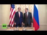Глава МИД РФ Сергей Лавров и госсекретарь США Джон Керри провели двустороннюю встречу в Москве.