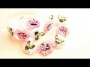 Атласные Цветы Зефирка/ Канзаши Мастер- класс / Цветы из Лент /Flowers of Ribbons