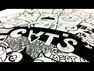 Doodle Cats by Pencilmania