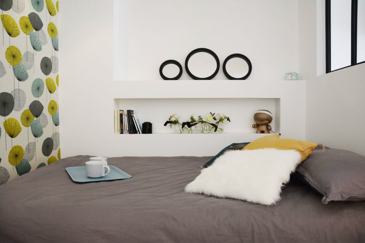 Интерьер квартиры-студии 33 м в Париже.