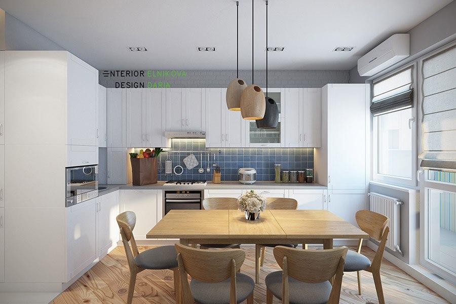 Проект квартиры почти 39 м (с лоджией 42,5 м) с отдельной спальней.