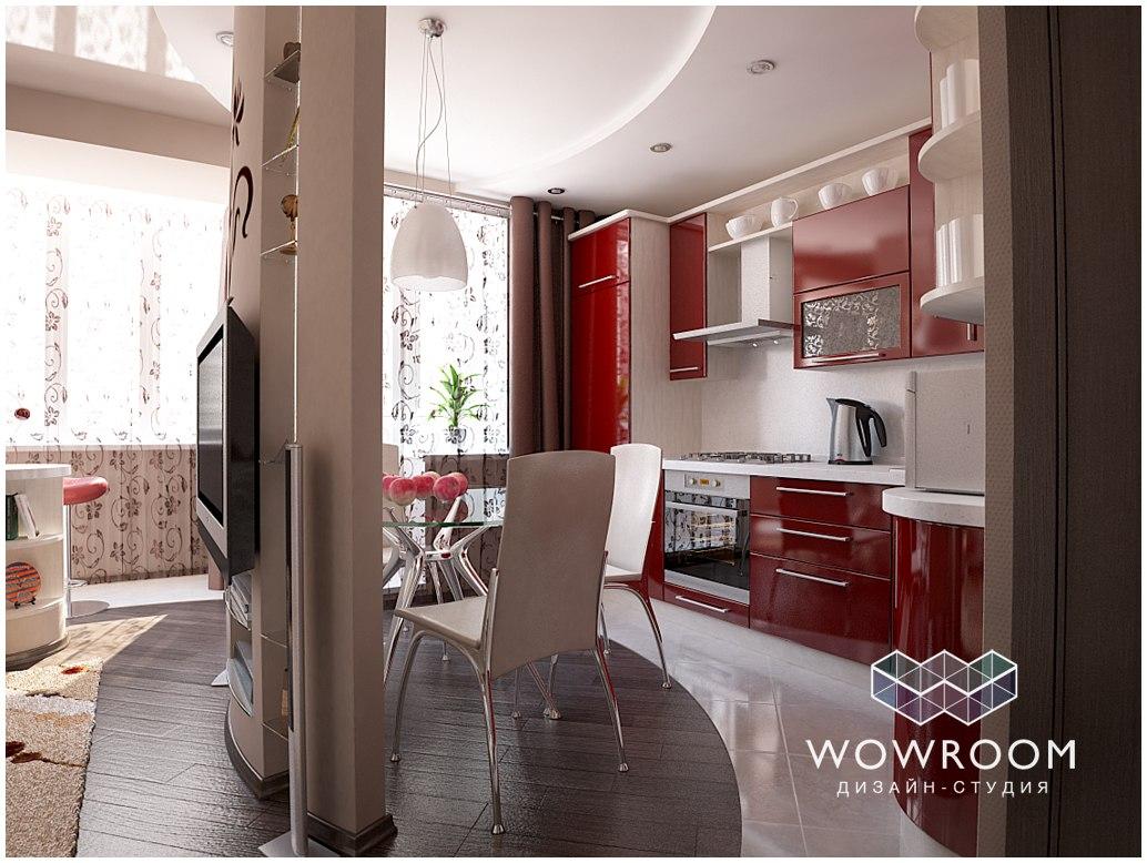 Проект квартиры 35,7 м.
