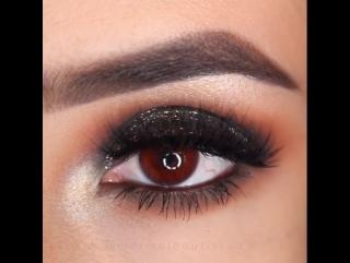 Вечерний макияж для карих глаз ✨