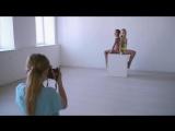 Бэк со съемки очаровательных гимнасток в фотостудии Inwhite.