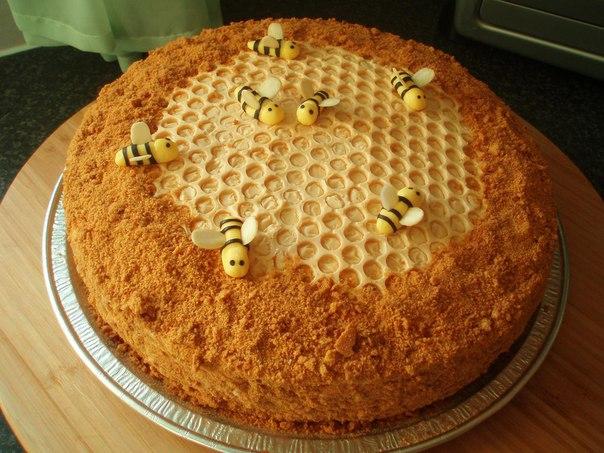 торт медовый, медовик с фото
