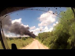 Ралли Дакар / Rally Dakar 2016. Игнат Фальков, штурман команды Astana Motorsports записал на видео сгоревший до тла грузовик Мар