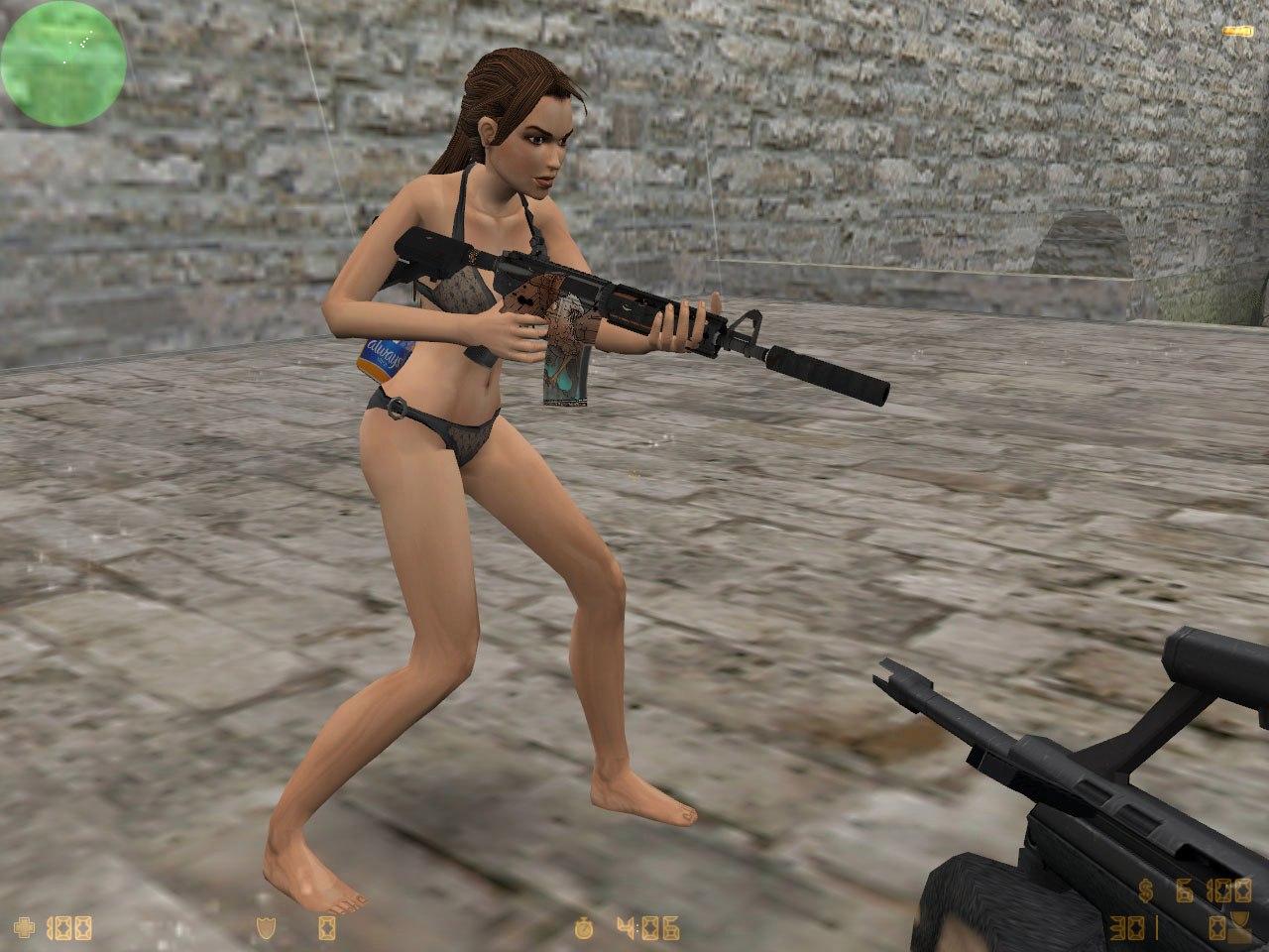 Lara croft bikini erotic clip