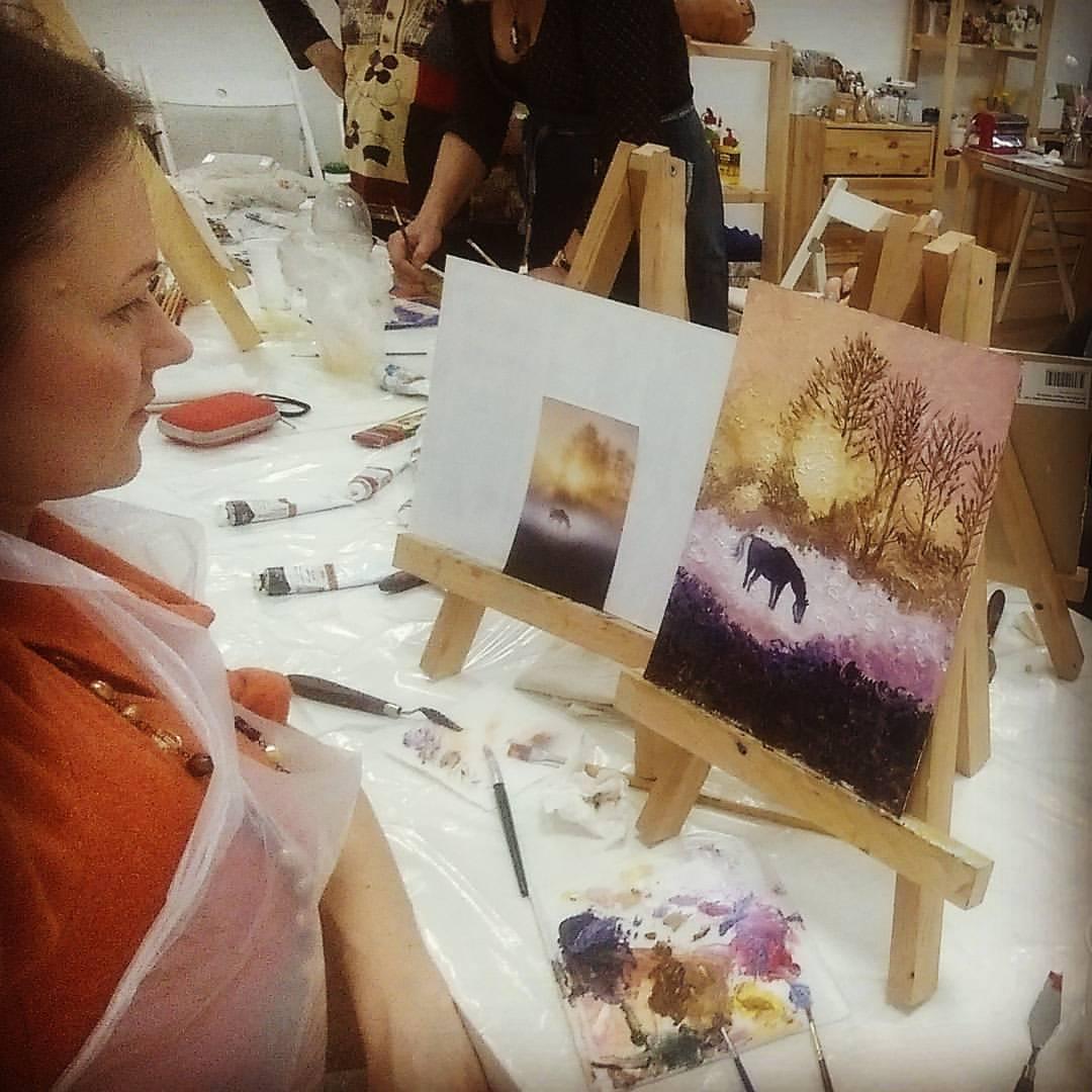 уроки живописи рисуем картина маслом