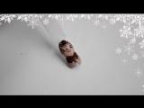 Рисуем символ 2016 года - обезьянку - новогодний дизайн ногтей - маникюр гель лак - уроки дизайна Донецк