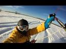 Кайт на свежем снегу