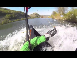 Paraglider crashes into river