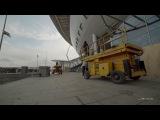 Видеопрогулка по стройке стадиона на Крестовском острове, март 2016