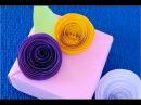 DIY. Самый простой и быстрый способ как сделать розы из бумаги ♥ Идеи для украшения подарка.