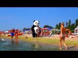 #2 Черное море Огромная панда на пляже Катаемся на горках Идем в парк аттракционов Затока 2015