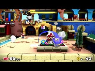 Paper Mario Color Splash - Reveal Gameplay Trailer - Wii U