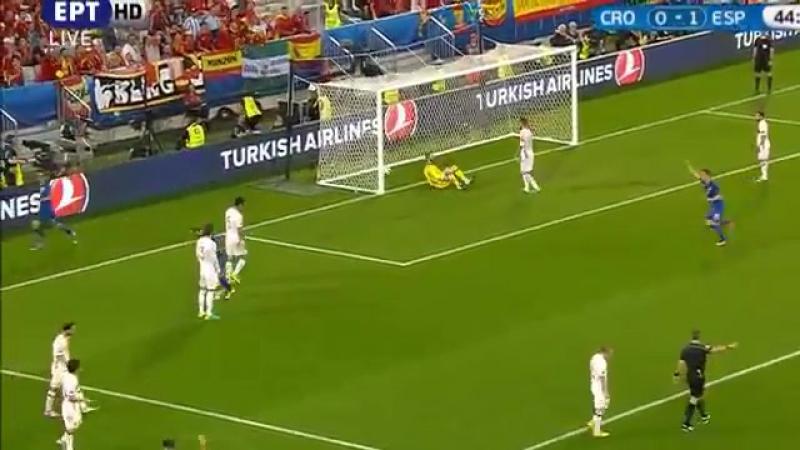 Croatia vs Spain 2-1 _UEFA Euro 2016 - Nikola Kalinićs goal {21-6-2016}