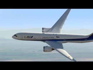 Вертикальный взлёт пассажирского самолёта Boeing