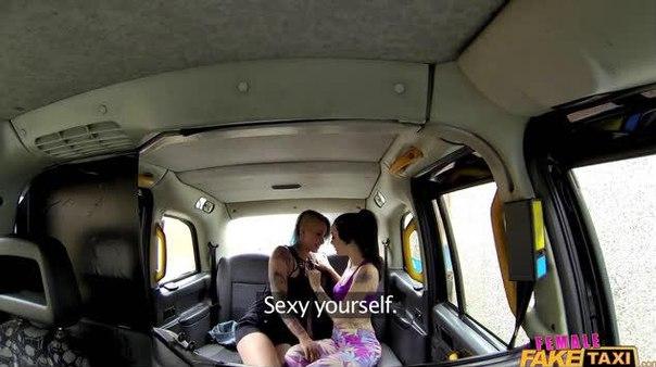 FemaleFakeTaxi – Alessa Savage & Angel Long – Sexy Lesbian Strap On Fuck In Cab HD Online