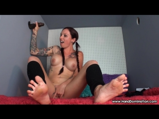 Her beautiful tattoos get absolutely drenched in tons of bull semen