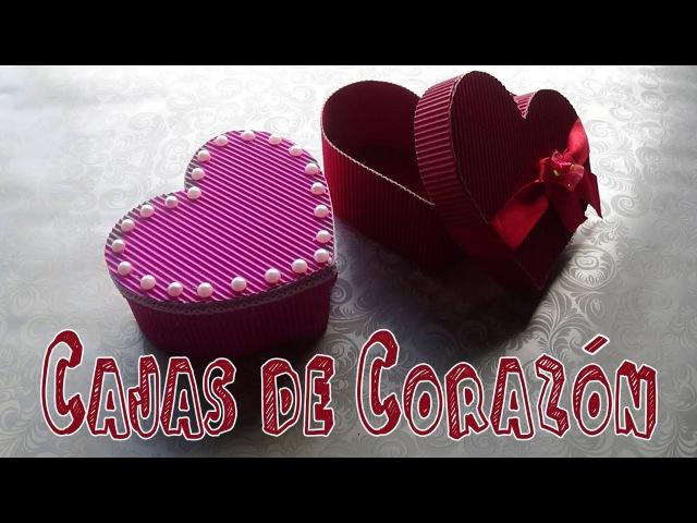 Cómo hacer cajas con forma de corazón - Candy Bu
