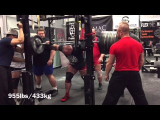 955lbs/433kg Raw Squat without wraps (belt & sleeves) PR