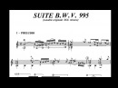 J S Bach Preludio y presto bwv 995 John Williams con partitura