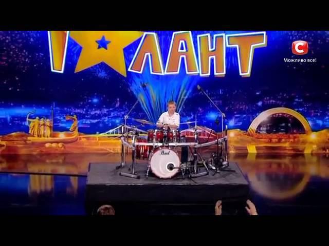 Даниил Варфоломеев соло на барабанах Україна має талант 8 Діти 05 03 2016