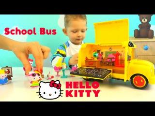 Hello Kitty School Bus Playset  Хелло Китти школьный автобус игровой набор школа