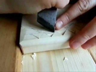 Резьба по дереву. Урок 1 (геометрическая)