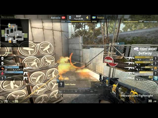 Fnatic vs Astralis, Betway Aftonbladet Fight Night 3, map 1 cache
