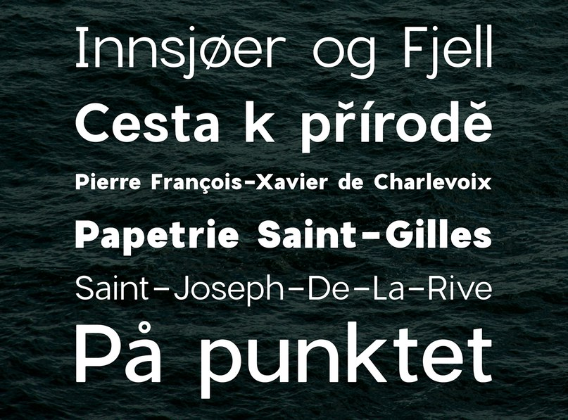 Download CharlevoixPro Full Family font (typeface)