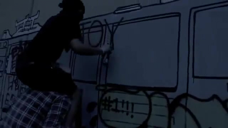 Graffiti Hardcore train bombing action [by @lushsux]