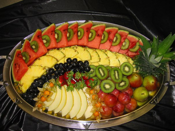 Как нарезать красиво фрукты на стол в домашних условиях