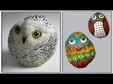 Art Lesson How to Paint Owls on Rock