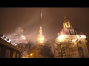 Saint Petersburg in the lantern's light. Night Winter Russia. Relaxation film 4K UHD