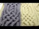 Front Cross Cable Stitch _ Вязание Аранов часть3