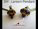 Lantern beaded pendant with 8mm and 4mm pearls - Beading Tutorial