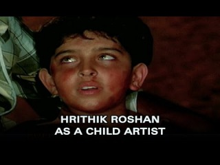 Hrithink Roshan as a child artist