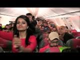 Spicejet Holi celebration cabin crew flashmob dance bhangra remix
