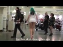 Amazing pranks! lost her skirt showed her ass! Женские попки!