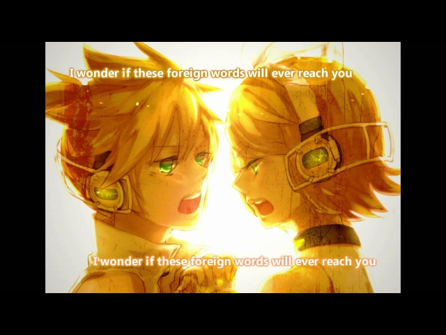 【Kagamine Rin (Append Warm), Kagamine Len (Append Serious)】Hello Again 【Eng. Subs】