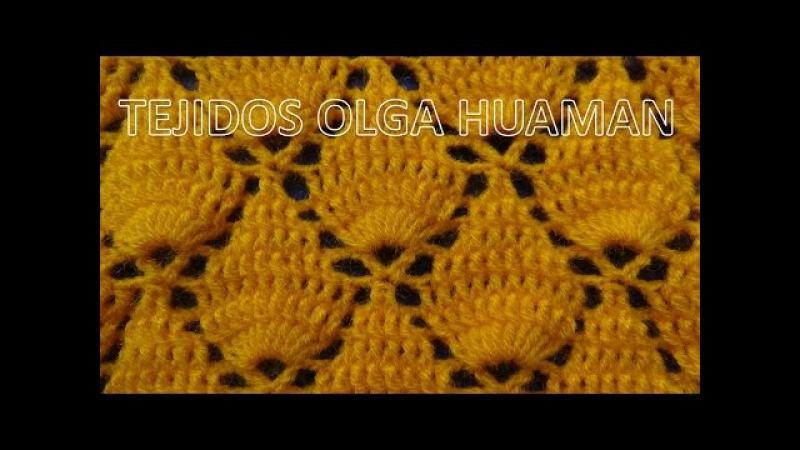 Crochet: Punto Hojas en Relieves