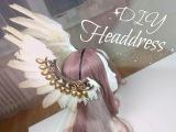 Diy Headdress with Feather , V