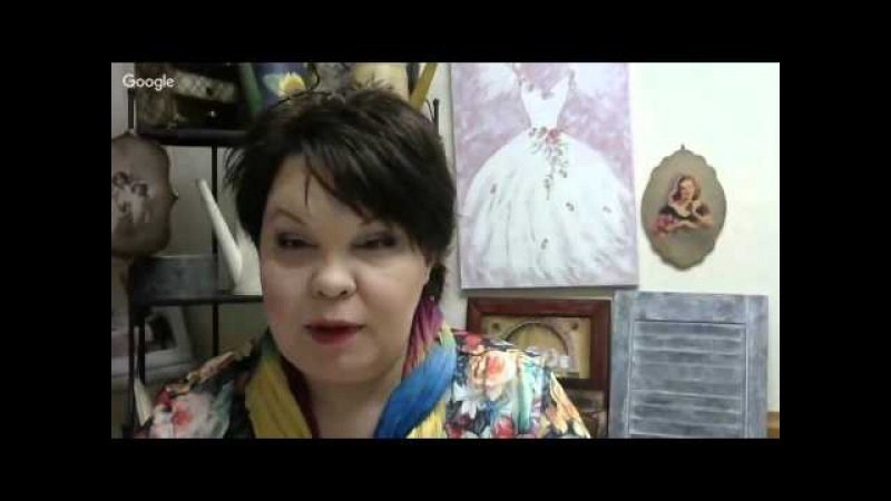 Людмила Михайловская. Декупаж фляги. Двушаговый кракелюр. Вебинар.