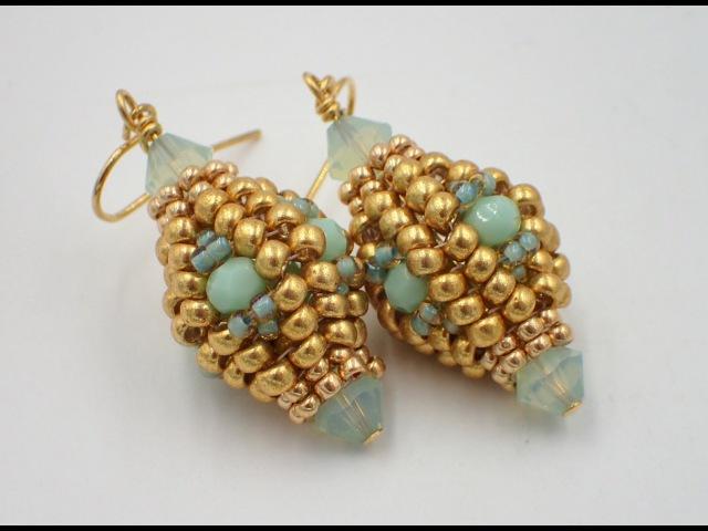 Herringbone Lantern Earrings