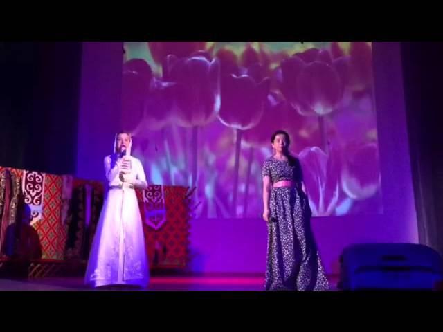 Песня на кумыкском и казахском языках (Zaira wa Aygerim - Birlik tuwar bizden)