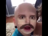Детки, очень забавно с усами Приколы с детьми смешные дети