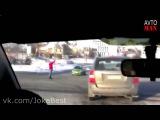 Смешные приколы на дорогах, аварии, дтп. Подборка 2014