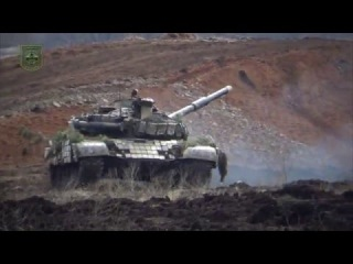 Танковый батальон на полигоне
